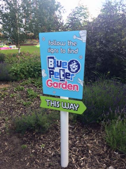 This way to the Blue Peter Garden!