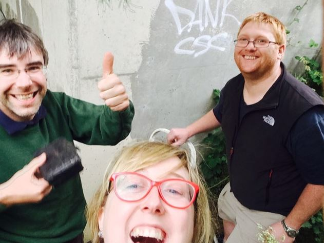 Under the Bridge selfie with THE_Chris and Donnacha - look how pleased I am with myself!