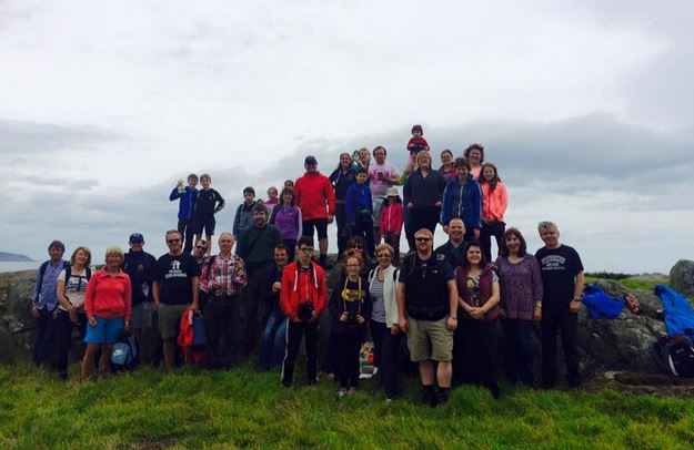 A partial group shot - some of the group had already left by the time I remembered to take the photo!