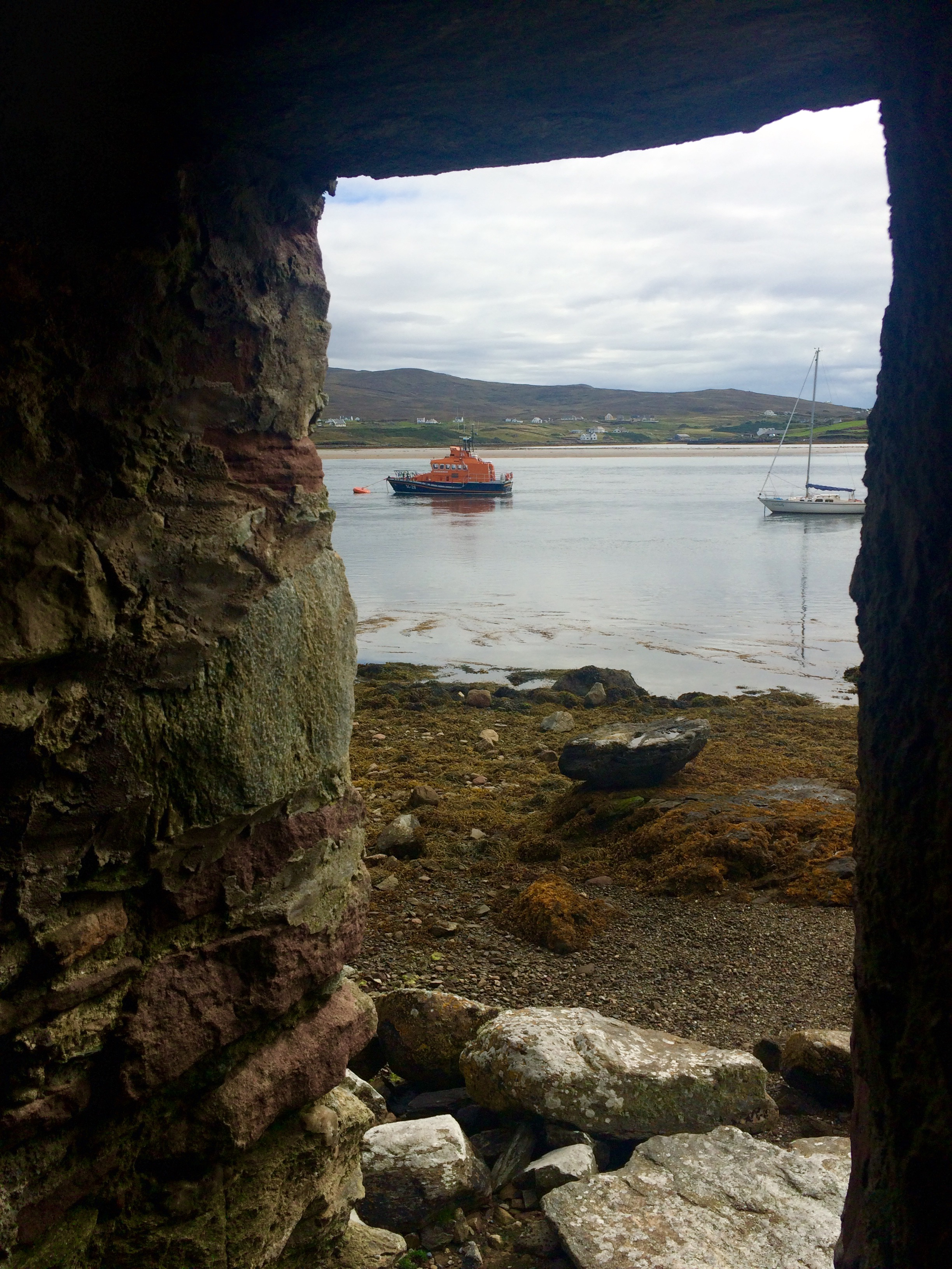 Achill lifeboat from inside the castle