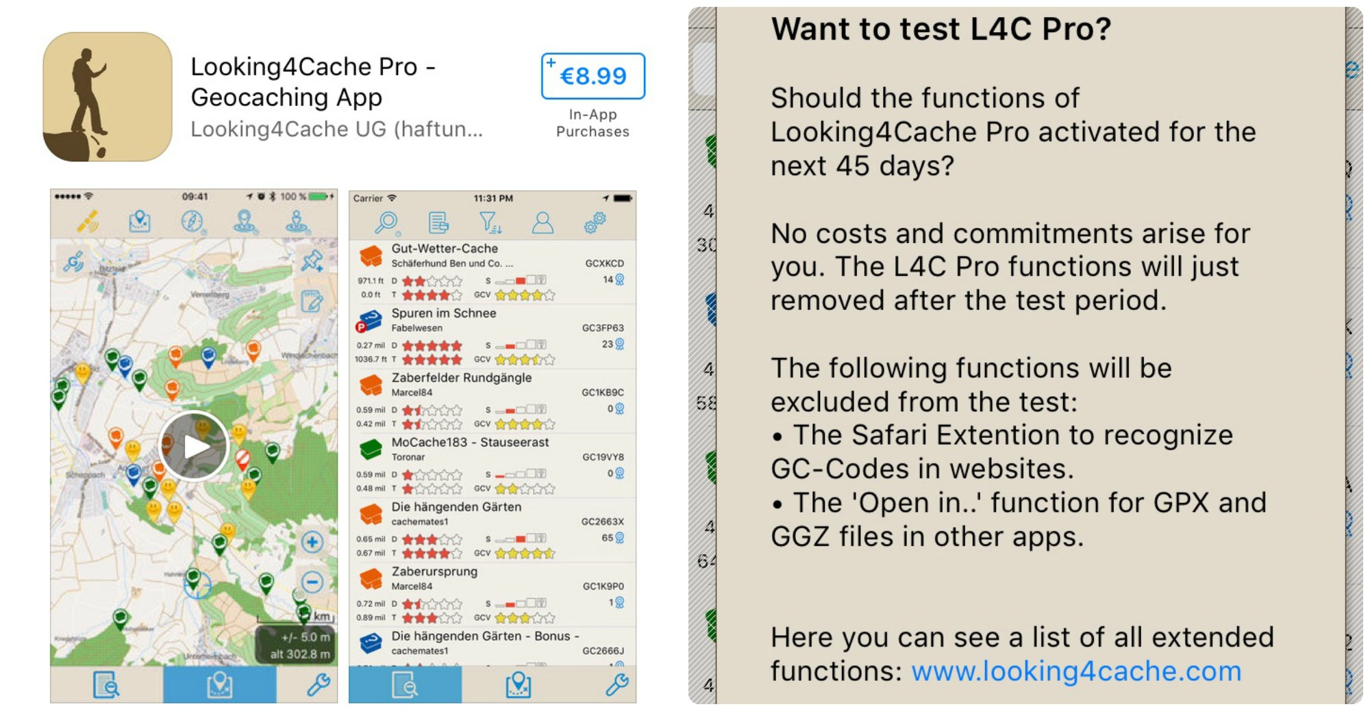 Geocaching App Review: Looking4Cache L4C