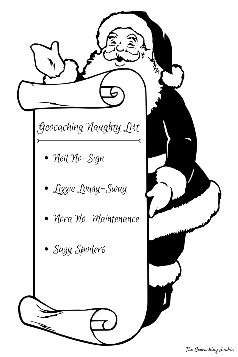 Geocaching Naughty or Nice List