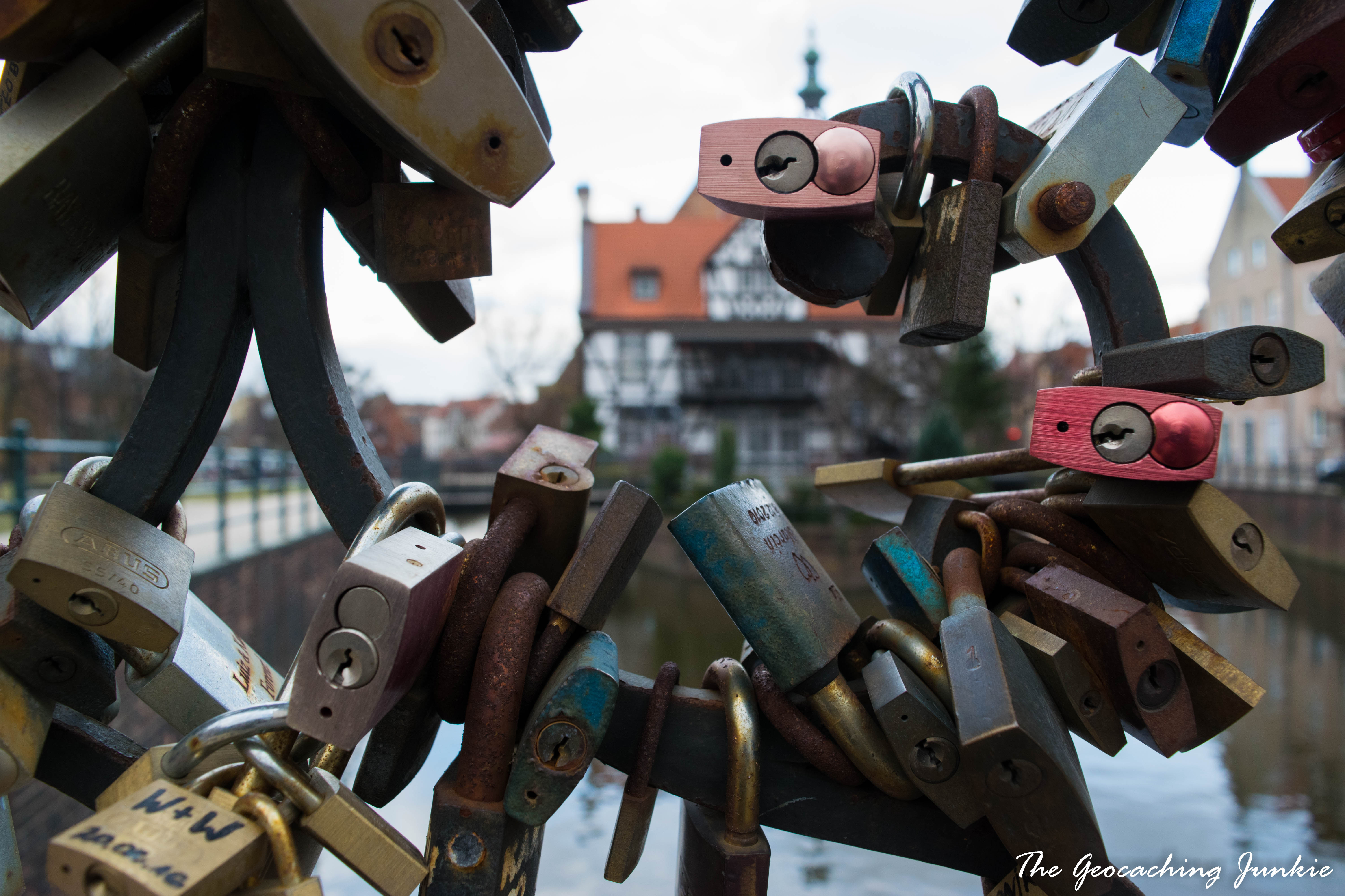 The Geocaching Junkie: Bridge of Love Gdansk Poland